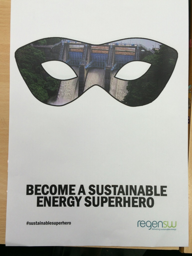 """""""I wanted to make my project interactive and engage people with the idea of renewable energy"""" Meg Thomas"""