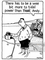 'There has to be a wee bit more to tidal power than THAT, Andy.'